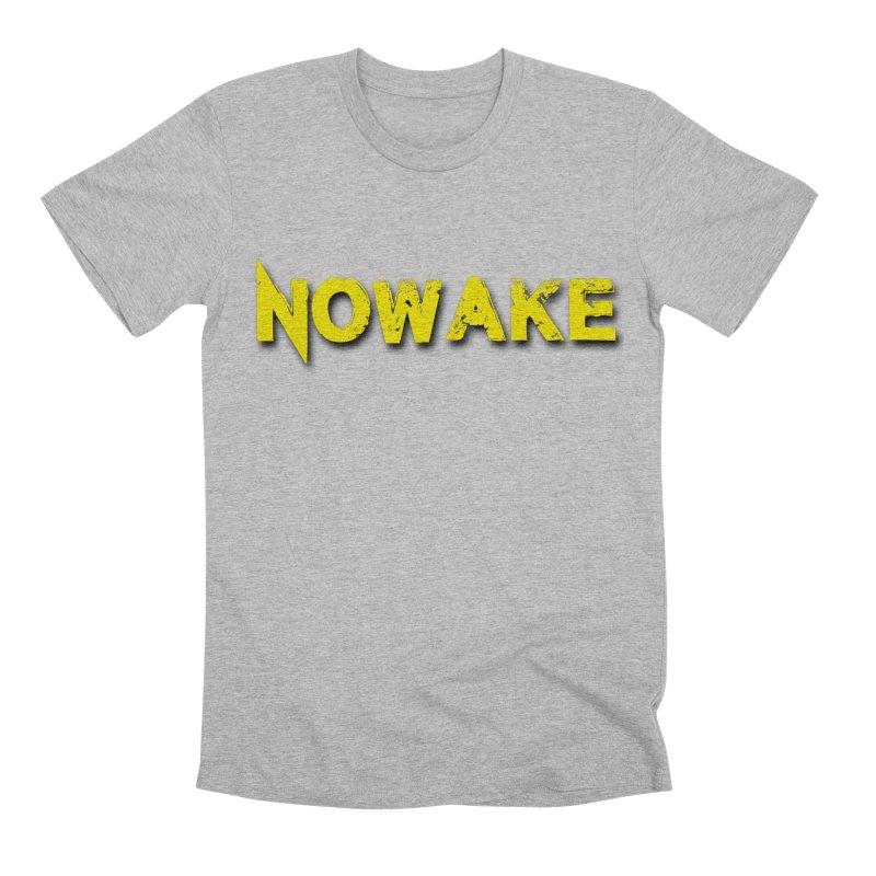 NOWAKE Yellow Drop Shadow Logo Men's Premium T-Shirt by NOWAKE's Artist Shop