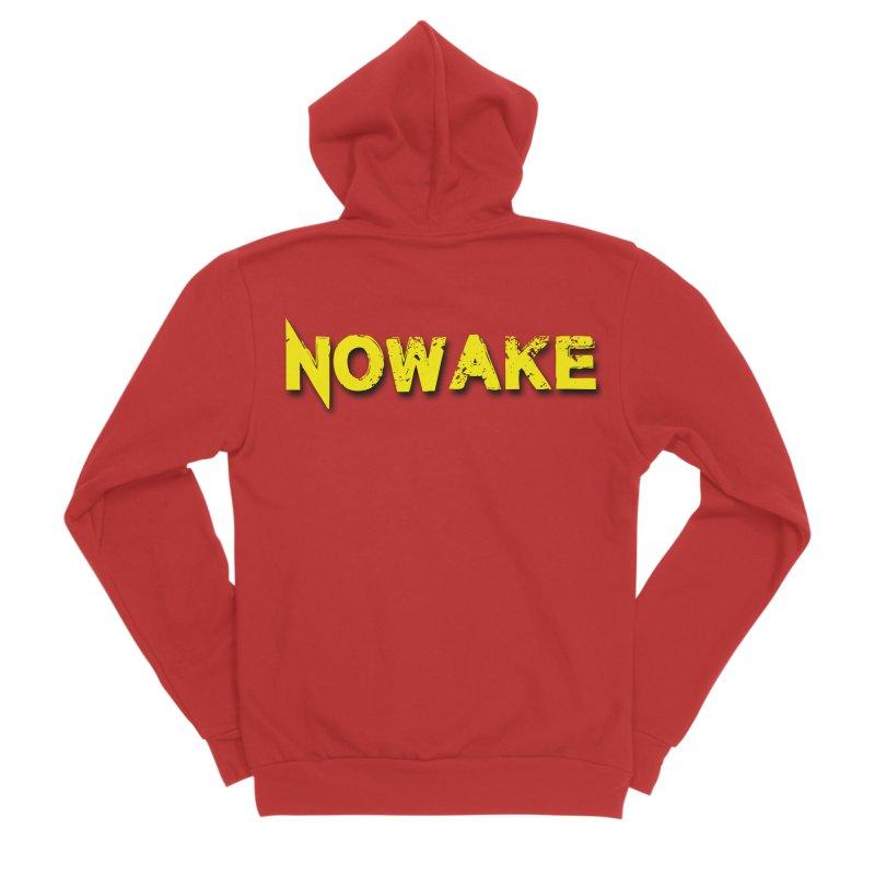 NOWAKE Yellow Drop Shadow Logo Women's Zip-Up Hoody by NOWAKE's Artist Shop