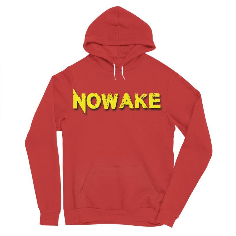 NOWAKE Yellow Drop Shadow Logo Men's Sponge Fleece Pullover Hoody by NOWAKE's Artist Shop