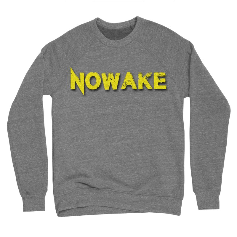NOWAKE Yellow Drop Shadow Logo Women's Sponge Fleece Sweatshirt by NOWAKE's Artist Shop