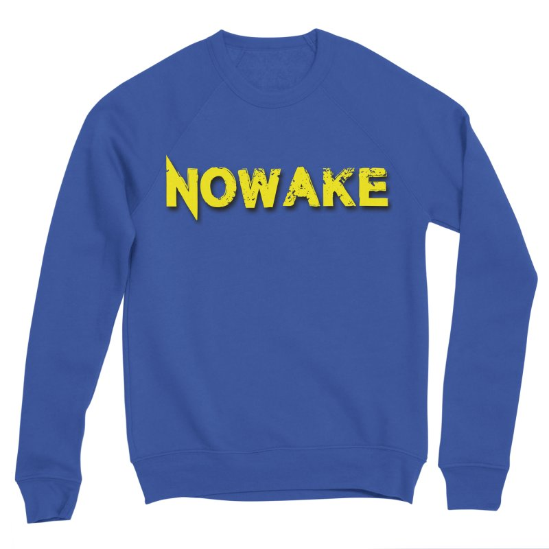 NOWAKE Yellow Drop Shadow Logo Men's Sweatshirt by NOWAKE's Artist Shop