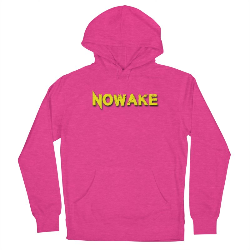 NOWAKE Yellow Drop Shadow Logo Men's French Terry Pullover Hoody by NOWAKE's Artist Shop