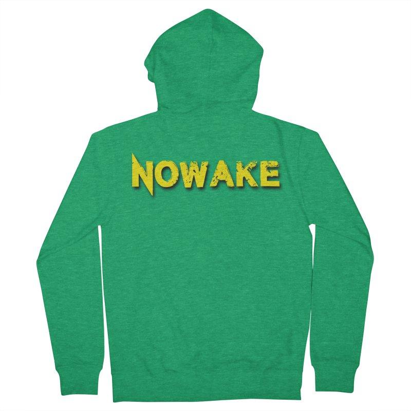 NOWAKE Yellow Drop Shadow Logo Men's Zip-Up Hoody by NOWAKE's Artist Shop