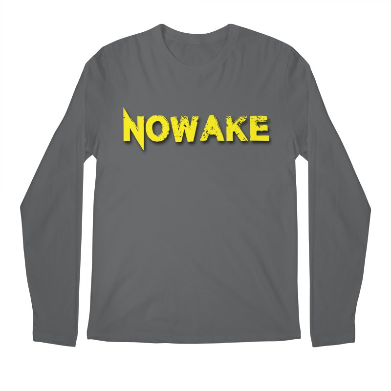NOWAKE Yellow Drop Shadow Logo Men's Longsleeve T-Shirt by NOWAKE's Artist Shop