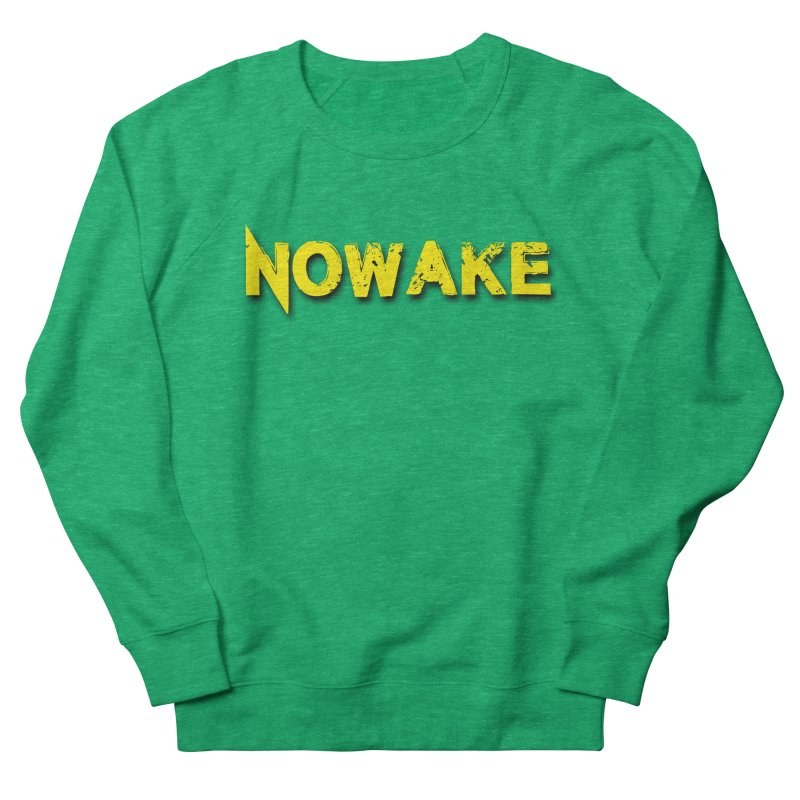 NOWAKE Yellow Drop Shadow Logo Women's Sweatshirt by NOWAKE's Artist Shop