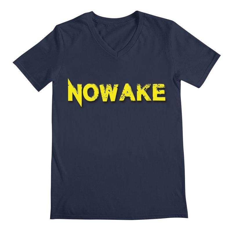 NOWAKE Yellow Drop Shadow Logo Men's Regular V-Neck by NOWAKE's Artist Shop