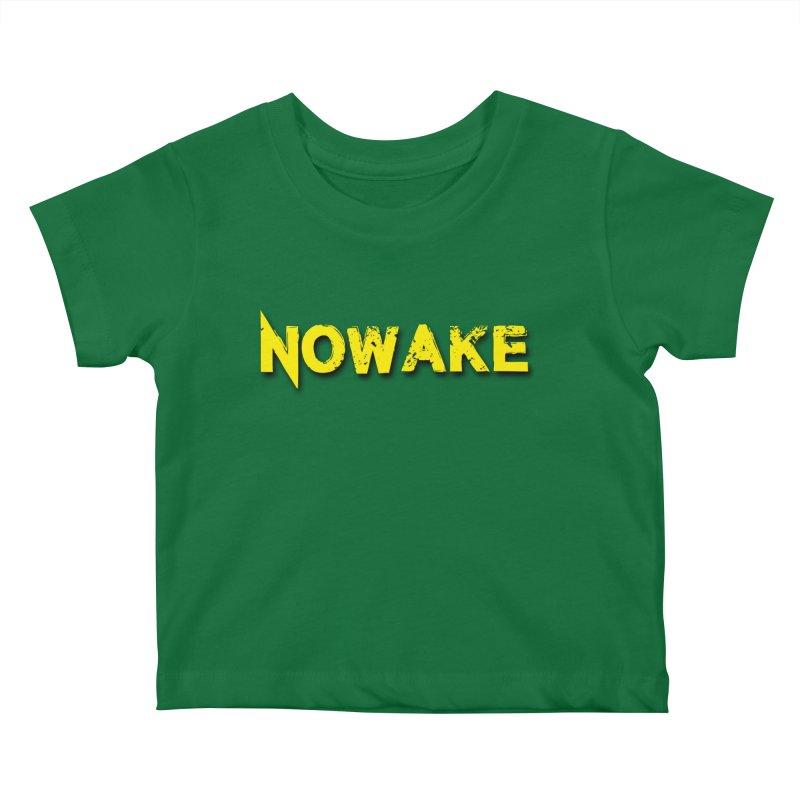 NOWAKE Yellow Drop Shadow Logo Kids Baby T-Shirt by NOWAKE's Artist Shop