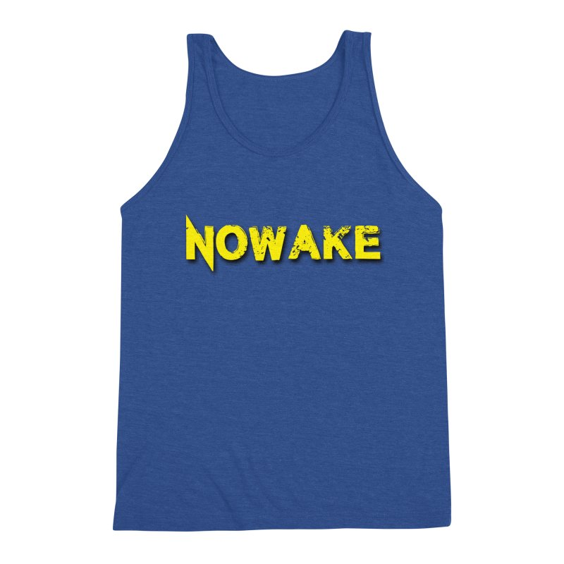 NOWAKE Yellow Drop Shadow Logo Men's Triblend Tank by NOWAKE's Artist Shop