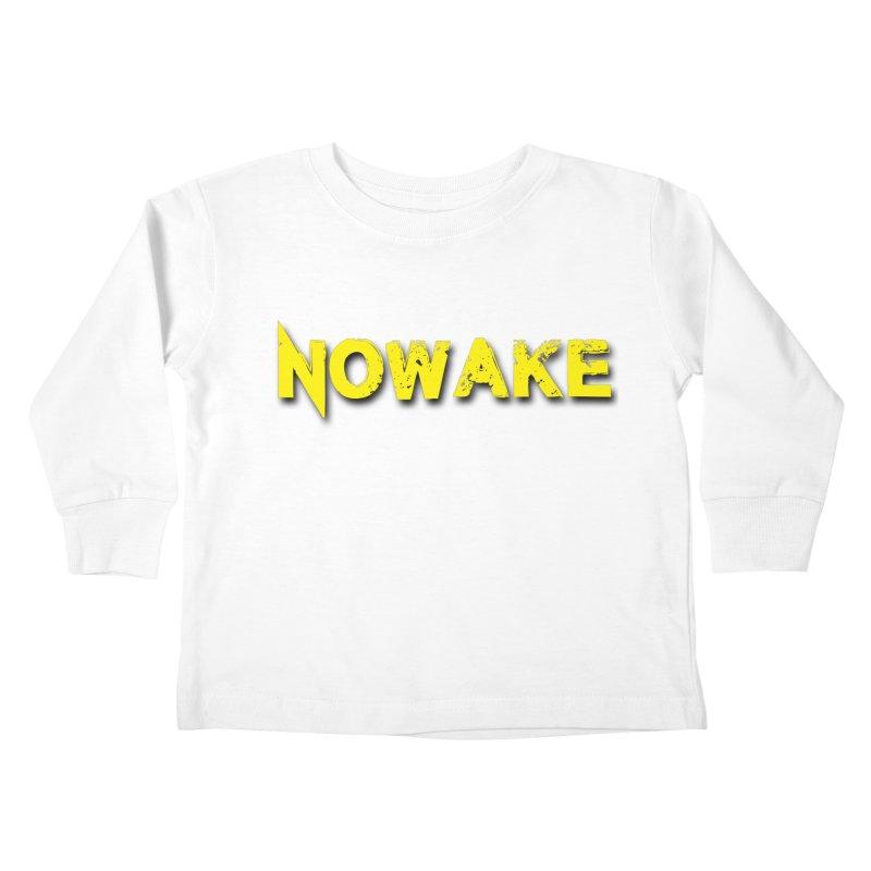 NOWAKE Yellow Drop Shadow Logo Kids Toddler Longsleeve T-Shirt by NOWAKE's Artist Shop