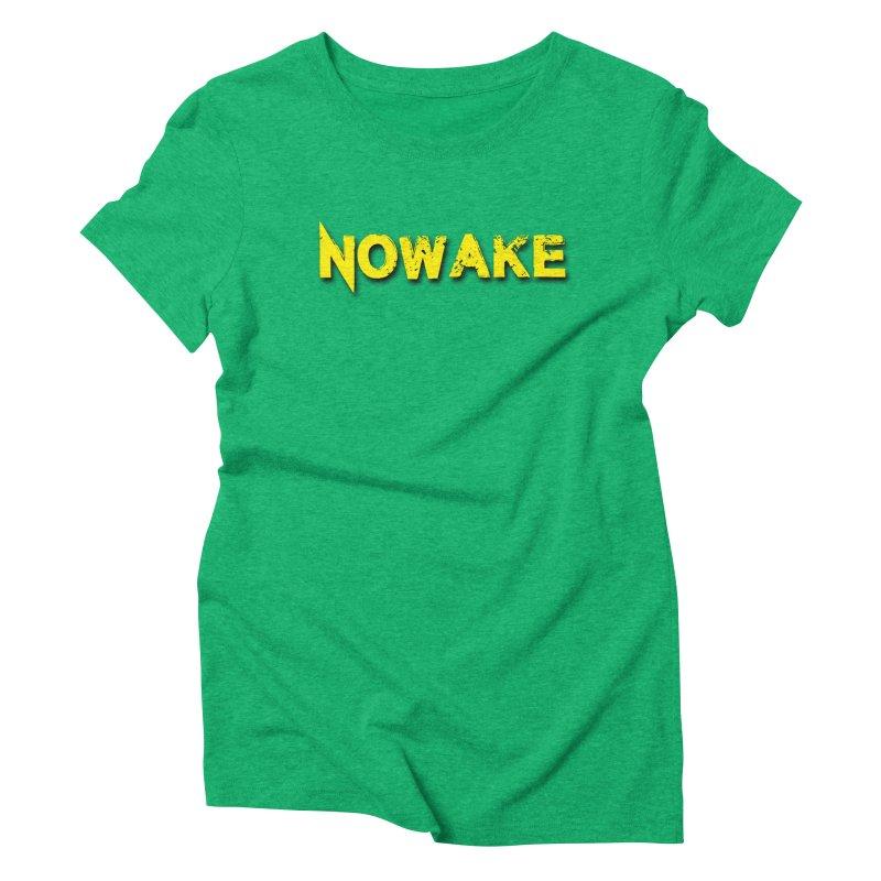 NOWAKE Yellow Drop Shadow Logo Women's Triblend T-Shirt by NOWAKE's Artist Shop