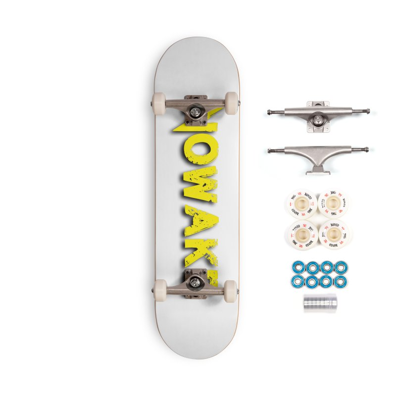 NOWAKE Yellow Drop Shadow Logo Accessories Complete - Premium Skateboard by NOWAKE's Artist Shop