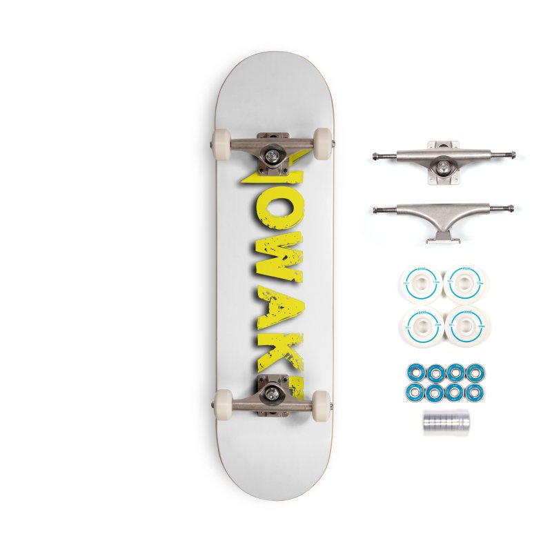 NOWAKE Yellow Drop Shadow Logo Accessories Complete - Basic Skateboard by NOWAKE's Artist Shop