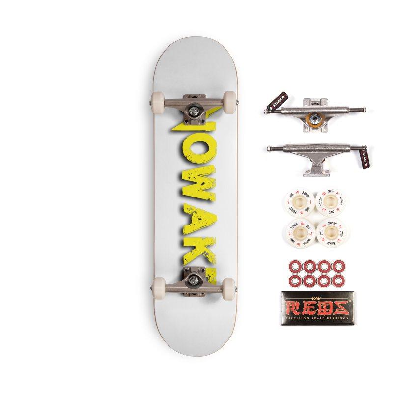 NOWAKE Yellow Drop Shadow Logo Accessories Skateboard by NOWAKE's Artist Shop