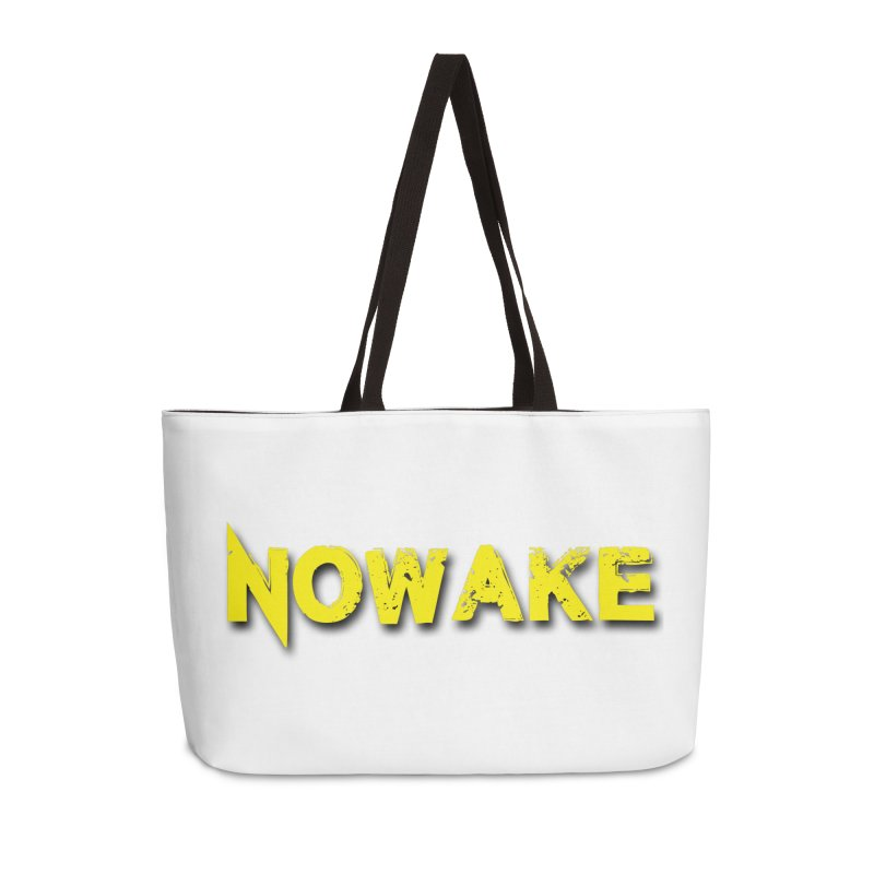 NOWAKE Yellow Drop Shadow Logo Accessories Bag by NOWAKE's Artist Shop