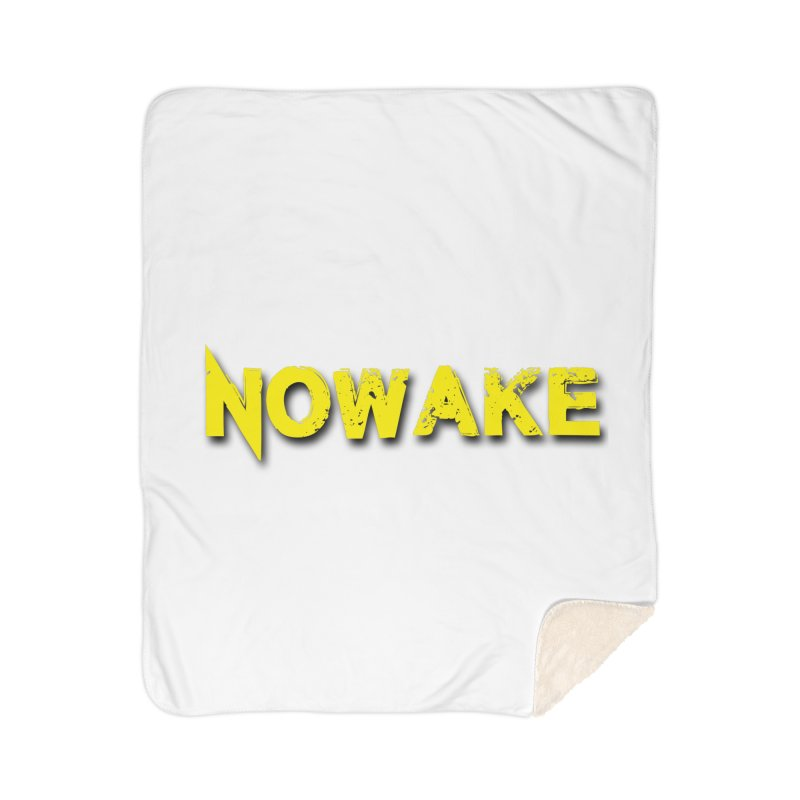 NOWAKE Yellow Drop Shadow Logo Home Sherpa Blanket Blanket by NOWAKE's Artist Shop