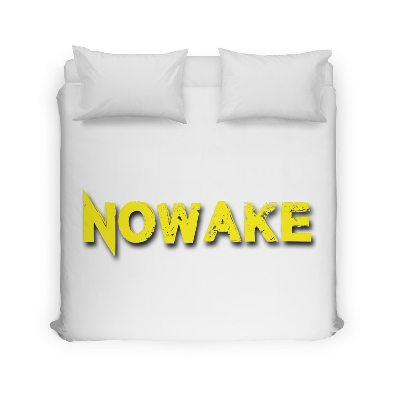NOWAKE Yellow Drop Shadow Logo Home Duvet by NOWAKE's Artist Shop