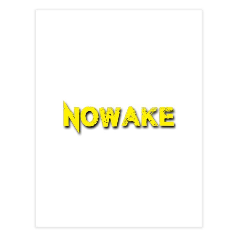 NOWAKE Yellow Drop Shadow Logo Home Fine Art Print by NOWAKE's Artist Shop