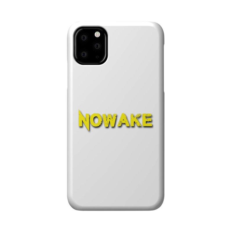 NOWAKE Yellow Drop Shadow Logo Accessories Phone Case by NOWAKE's Artist Shop