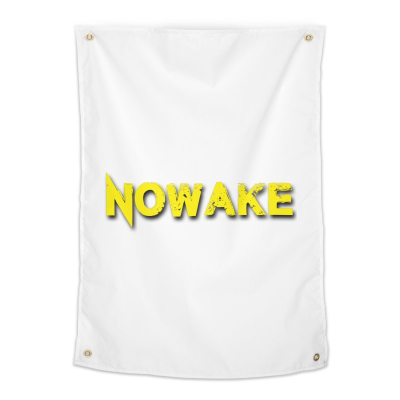 NOWAKE Yellow Drop Shadow Logo Home Tapestry by NOWAKE's Artist Shop