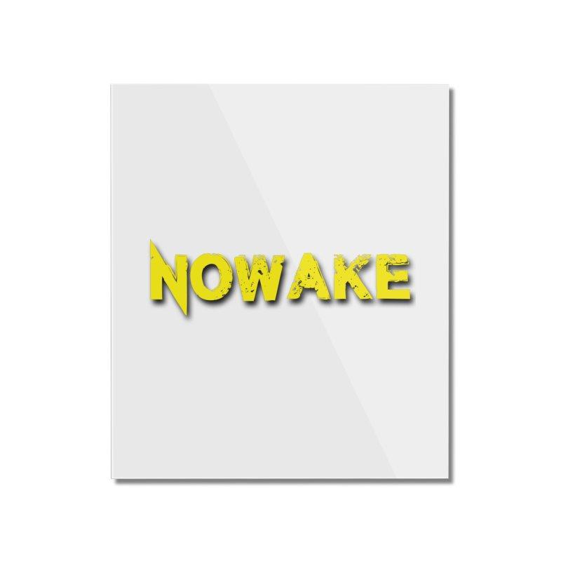 NOWAKE Yellow Drop Shadow Logo Home Mounted Acrylic Print by NOWAKE's Artist Shop