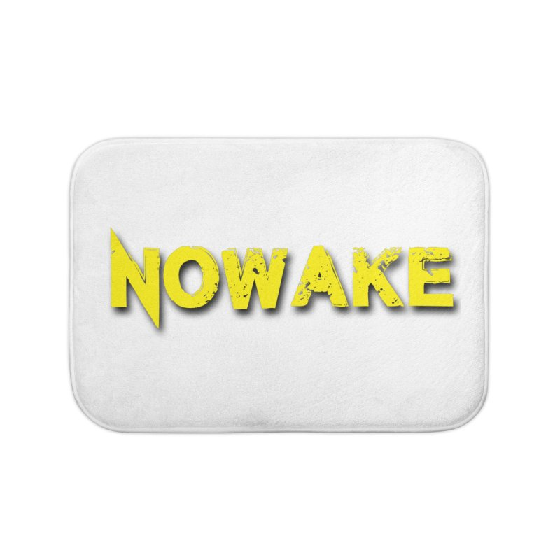 NOWAKE Yellow Drop Shadow Logo Home Bath Mat by NOWAKE's Artist Shop