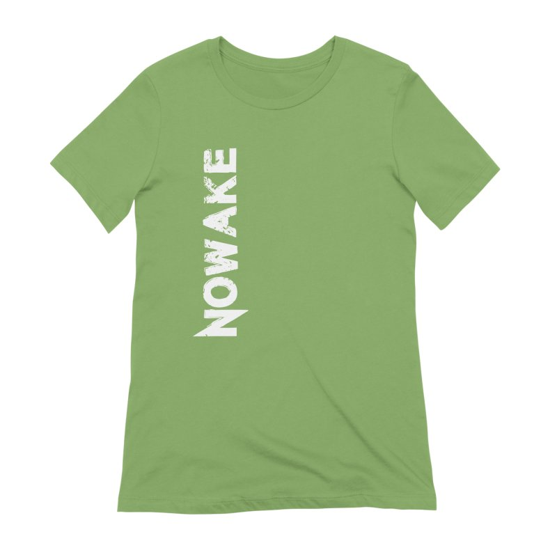 NOWAKE White Sideways Logo Women's Extra Soft T-Shirt by NOWAKE's Artist Shop