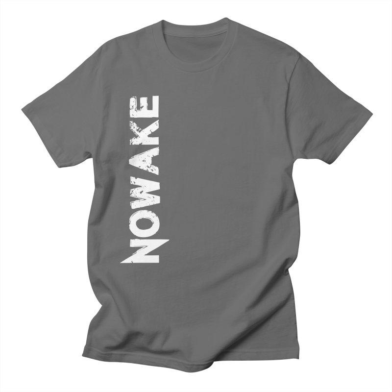 NOWAKE White Sideways Logo Men's T-Shirt by NOWAKE's Artist Shop