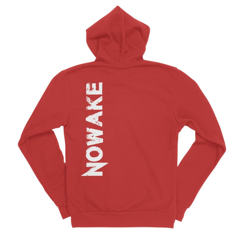 NOWAKE White Sideways Logo Men's Zip-Up Hoody by NOWAKE's Artist Shop