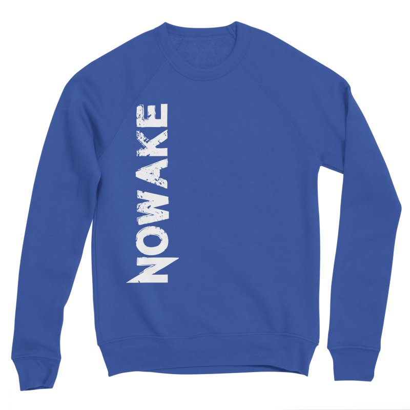 NOWAKE White Sideways Logo Women's Sponge Fleece Sweatshirt by NOWAKE's Artist Shop
