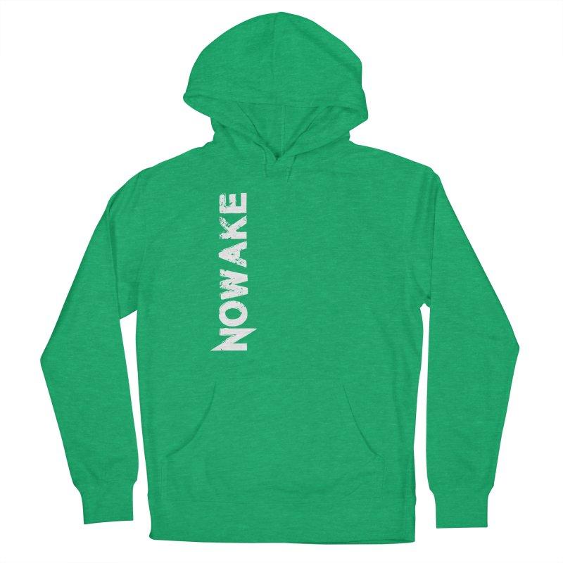NOWAKE White Sideways Logo Men's French Terry Pullover Hoody by NOWAKE's Artist Shop