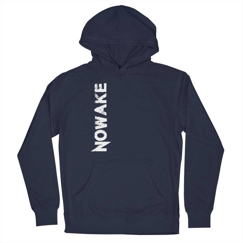 NOWAKE White Sideways Logo Men's Pullover Hoody by NOWAKE's Artist Shop