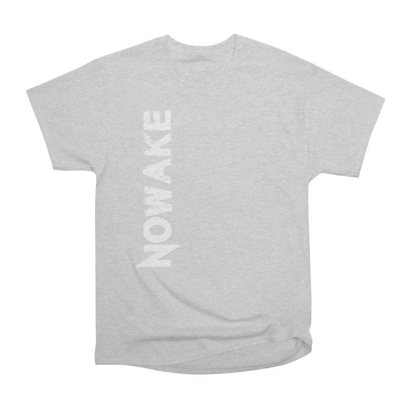 NOWAKE White Sideways Logo Men's Heavyweight T-Shirt by NOWAKE's Artist Shop