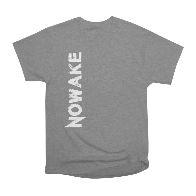 NOWAKE White Sideways Logo Women's Heavyweight Unisex T-Shirt by NOWAKE's Artist Shop