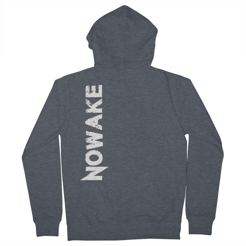 NOWAKE White Sideways Logo Women's French Terry Zip-Up Hoody by NOWAKE's Artist Shop