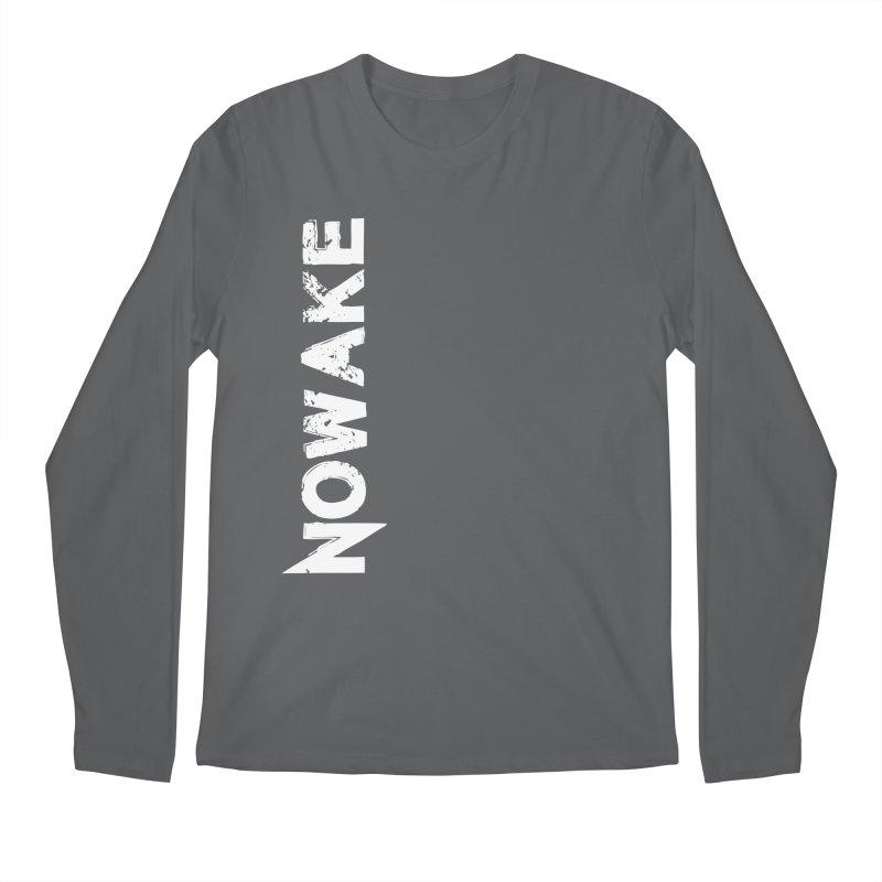 NOWAKE White Sideways Logo Men's Longsleeve T-Shirt by NOWAKE's Artist Shop