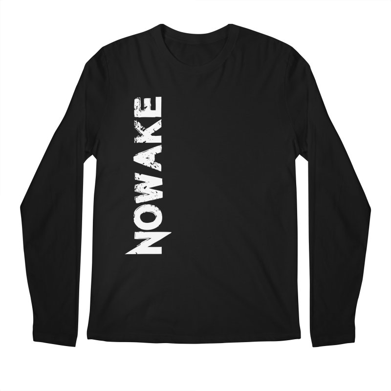 NOWAKE White Sideways Logo Men's Regular Longsleeve T-Shirt by NOWAKE's Artist Shop