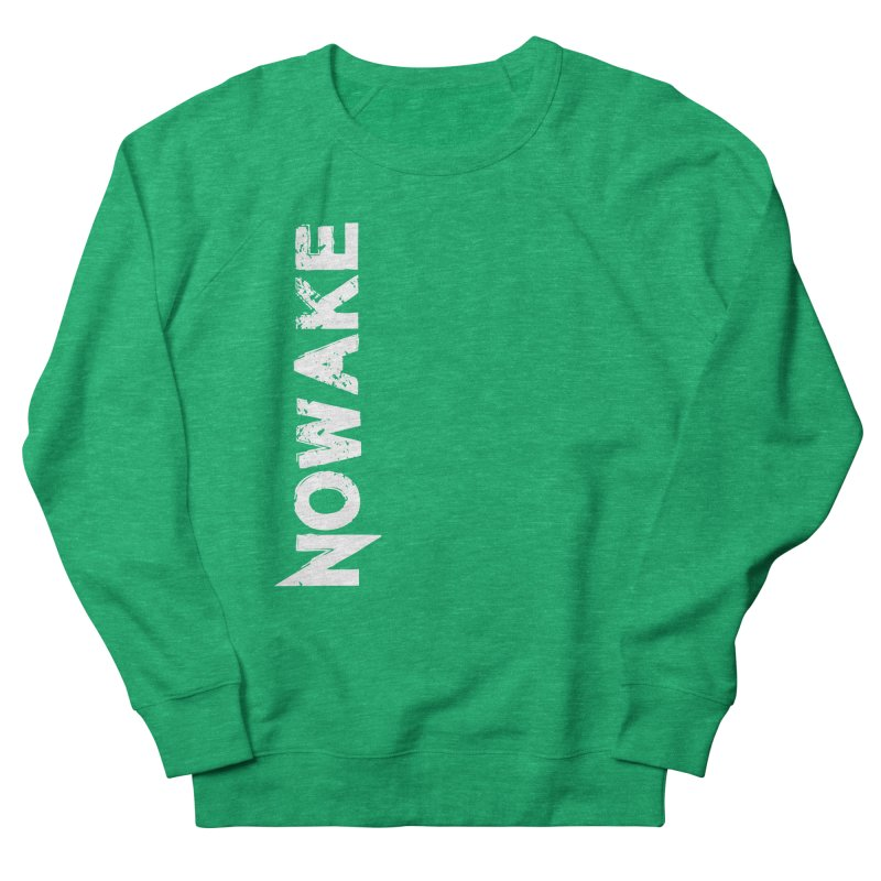 NOWAKE White Sideways Logo Women's Sweatshirt by NOWAKE's Artist Shop