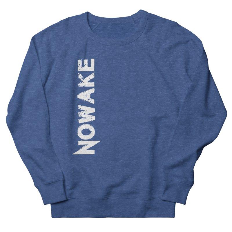 NOWAKE White Sideways Logo Men's Sweatshirt by NOWAKE's Artist Shop