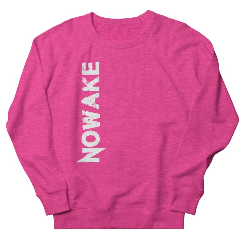 NOWAKE White Sideways Logo Men's French Terry Sweatshirt by NOWAKE's Artist Shop