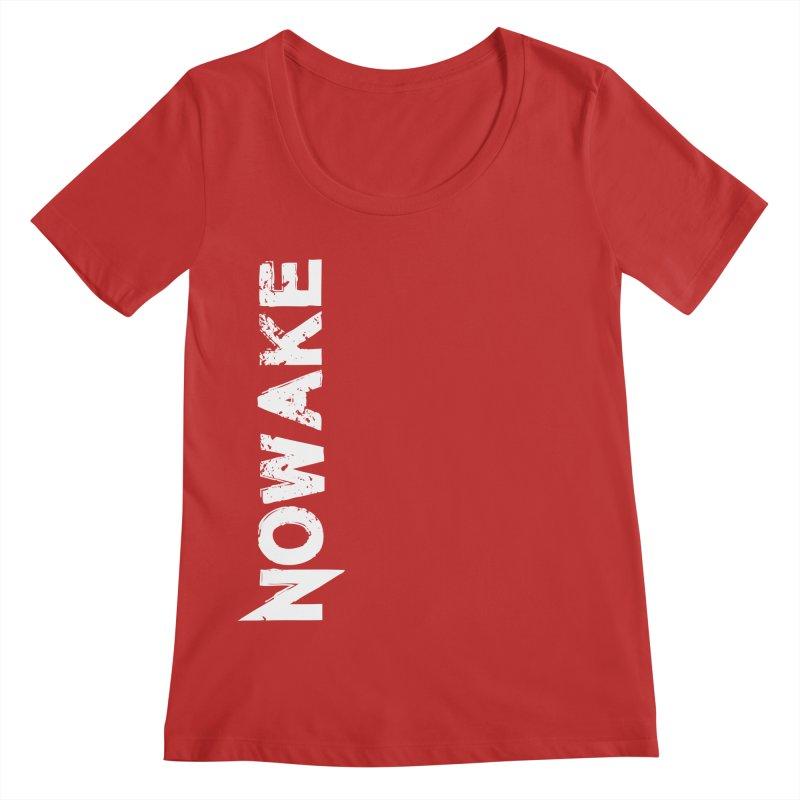 NOWAKE White Sideways Logo Women's Regular Scoop Neck by NOWAKE's Artist Shop