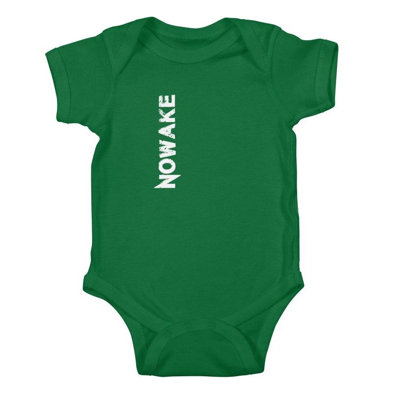 NOWAKE White Sideways Logo Kids Baby Bodysuit by NOWAKE's Artist Shop