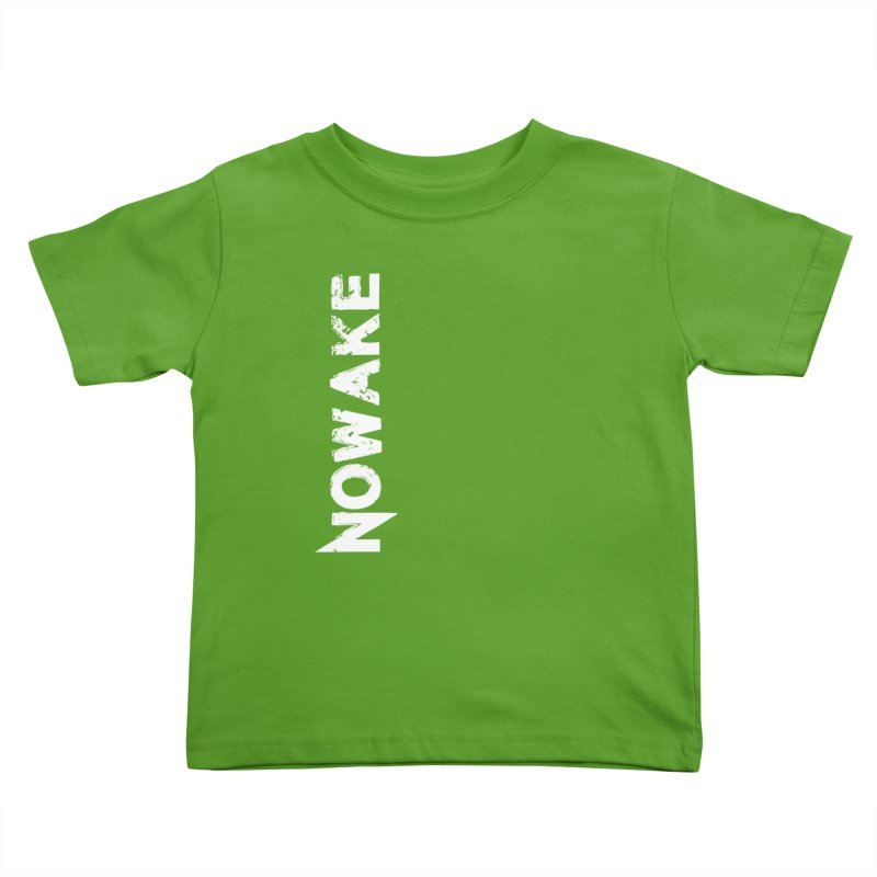 NOWAKE White Sideways Logo Kids Toddler T-Shirt by NOWAKE's Artist Shop