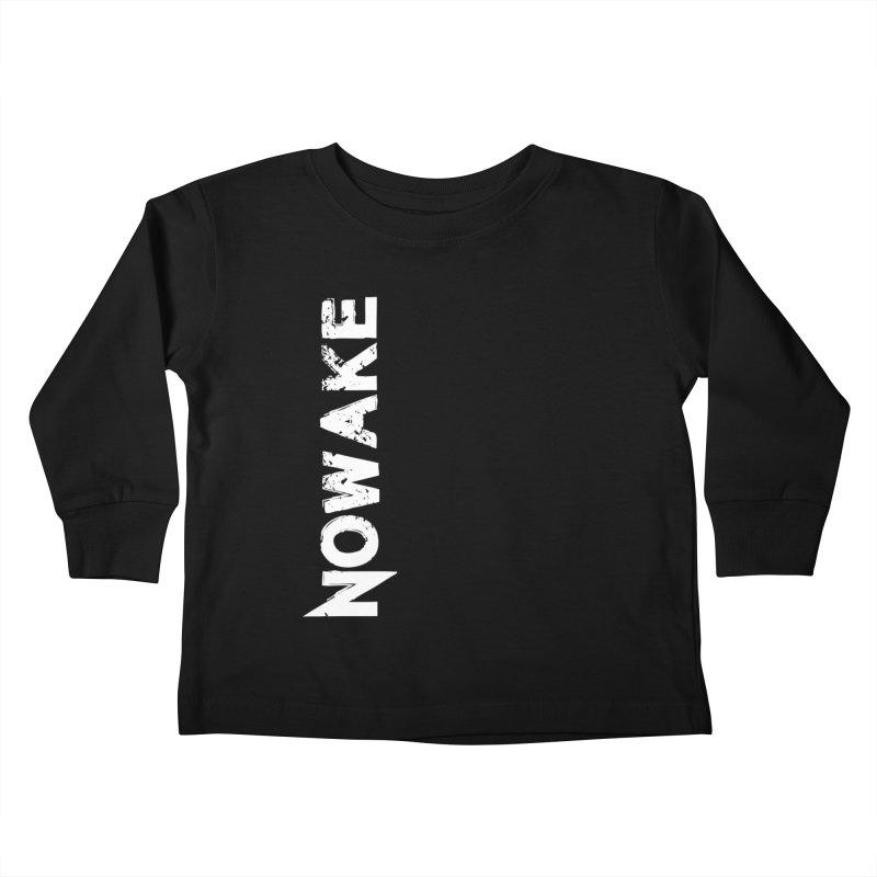 NOWAKE White Sideways Logo Kids Toddler Longsleeve T-Shirt by NOWAKE's Artist Shop