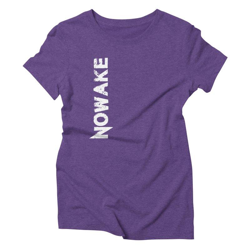 NOWAKE White Sideways Logo Women's Triblend T-Shirt by NOWAKE's Artist Shop