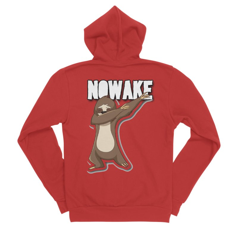 NOWAKE Dabbing Sloth Women's Zip-Up Hoody by NOWAKE's Artist Shop
