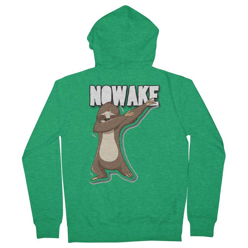 NOWAKE Dabbing Sloth Men's Zip-Up Hoody by NOWAKE's Artist Shop