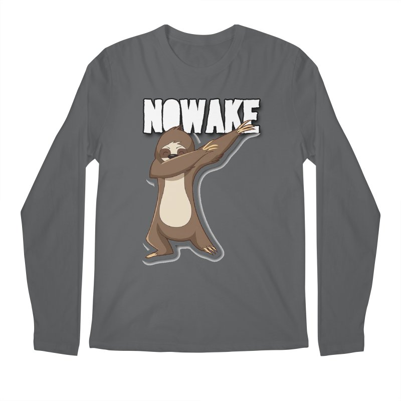 NOWAKE Dabbing Sloth Men's Longsleeve T-Shirt by NOWAKE's Artist Shop
