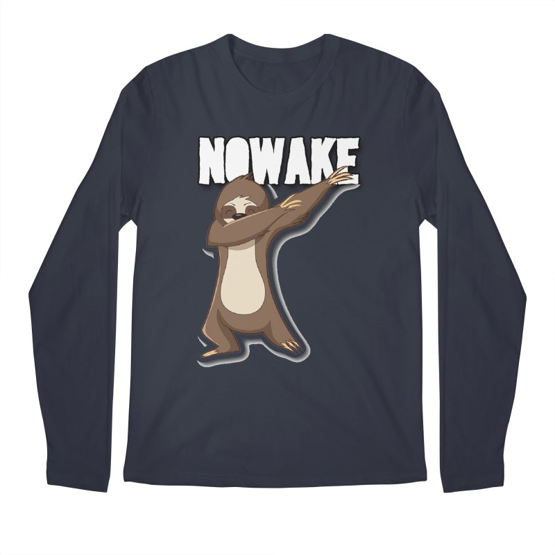 NOWAKE Dabbing Sloth Men's Regular Longsleeve T-Shirt by NOWAKE's Artist Shop