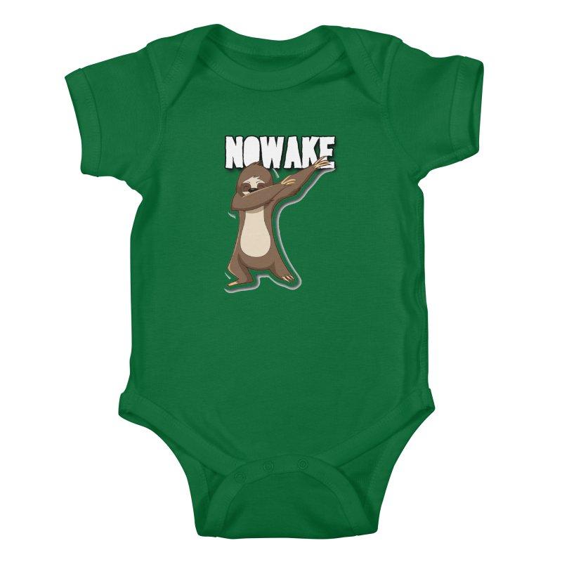 NOWAKE Dabbing Sloth Kids Baby Bodysuit by NOWAKE's Artist Shop