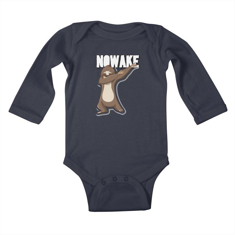 NOWAKE Dabbing Sloth Kids Baby Longsleeve Bodysuit by NOWAKE's Artist Shop